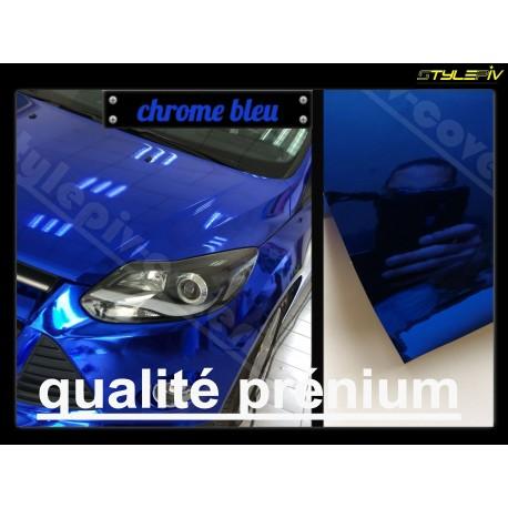 film covering chrome bleu 152 x 30 cm