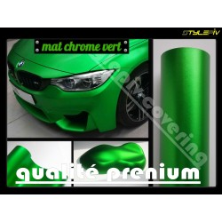film covering mat chrome vert