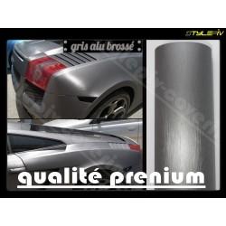 film covering aluminium brossé gris 152 x 30 cm