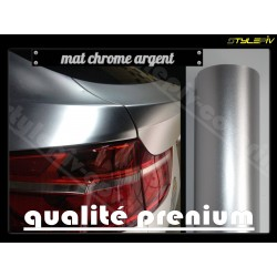film covering mat chrome argent