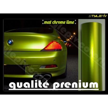 film covering mat chrome vert lime 152 x 30 cm