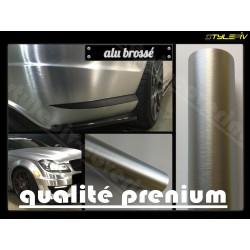 film covering aluminium brossé gris argent