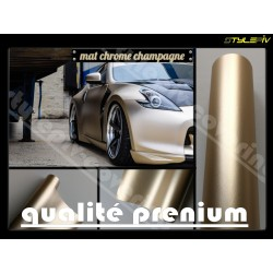 film covering mat chrome argent