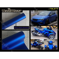 film covering bleu mat chrome teckwrap