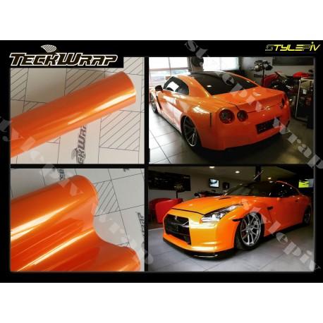 film covering orange brillant métallisé