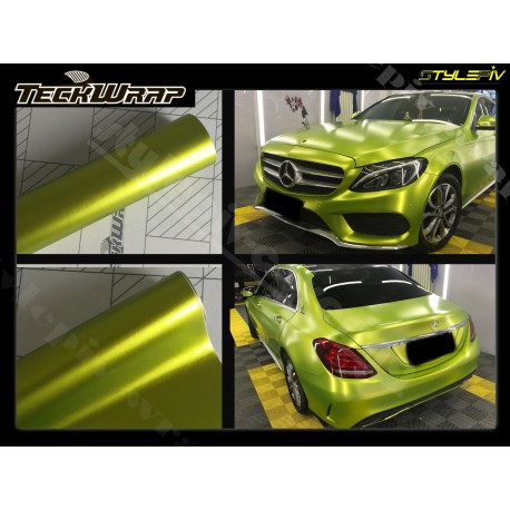 film covering vert lime mat chrome teckwrap