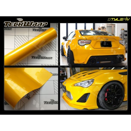 film covering jaune brillant métallisé TECKWRAP
