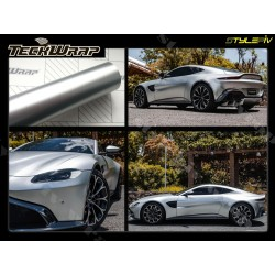 Film covering satin chrome argent TECKWRAP vinyle thermoformable adhesif