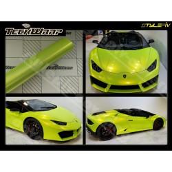 Film covering vert lime brillant finition métallisé ,vinyle adhésif de marque TECKWRAP