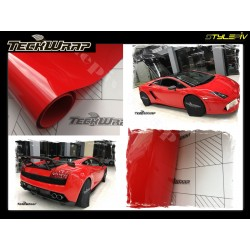TECKWRAP film covering rouge brillant