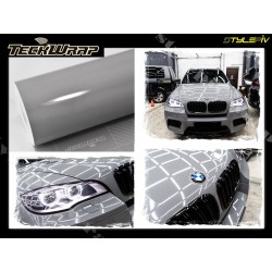 Film covering gris nardo brillant vinyle adhésif  de marque TECKWRAP vinyl autocollant thermoformable