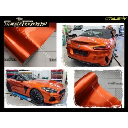 Film covering orange brillant finition métallisé ,vinyle adhésif de marque TECKWRAP