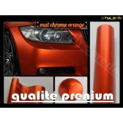 film covering orange mat chrome